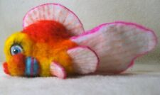 Ooak needle felted artist handcraft / handmade gold fish fancy animated