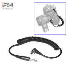 2.5mm to Male Flash PC Sync Cable Cord with Screw Lock for CANON 7D 5D II 1D 1DS