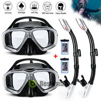 1/2x Snorkel Set Adult Youth Snorkeling Gear Dry Top Frameless Mask Diving +Tube