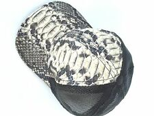 HAT PYTHON SKIN & FISHNET BACK(LUXURY)SNAPBACK (1)SIZE FITS ALL, PREMIUM = 7662