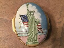 Halcyon Days Enamel Statue Of Liberty Box Designed By Tiffany & Company Ex. Cond