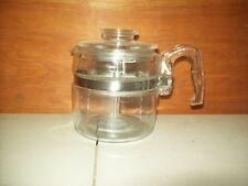 Complete Pyrex Glass 7754-B 2 - 4 Cup Flameware Stove Top Percolator Coffee Pot