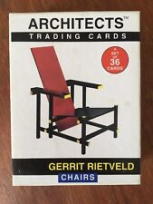 Acme GERRIT RIETVELD Chairs Architects trading Cards Complete