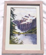 Nels Bruseth Original Painting in Frame Goat Lake Darrington Washington