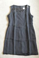 Dolce & Gabbana Black Linen Back Zip Dress Womens ITA 40 / UK 8 / US 2-4