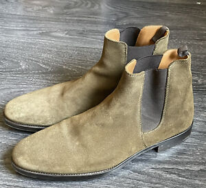 ORO Los Angeles Men's US 10 Slip-On Suede Chelsea Dress Boots Handmade In Spain