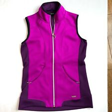 Sunice Golf Womens Small Full Zip Vest Pockets Polyester spandex style 564500