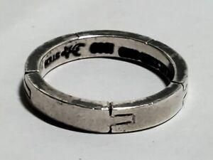 Barry Kieselstein Cord 925 STERLING SILVER ring sz.5 modern fashion style hype