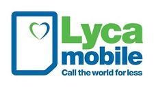 Lyca Mobile Prepaid Sim Karte D-Netz Registriert Aktiviert 2,50€ Bonus Guthaben