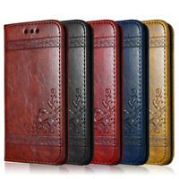 For iPhone 4 5 6 6s 7 Plus Magnetic Flip Cover Wallet Card PU Leather Phone Case