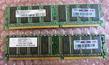 2 x HP 326667-041 256MB PC3200 DDR-400MHz non-ECC Unbuffered CL3 184-Pin DIMM