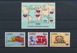 LO16528 Zaire AIDS awareness campaign fine lot MNH