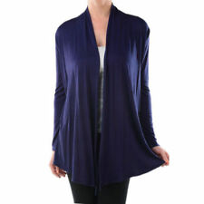 USA NEW Womens Cardigan Long Sleeve Open Front Draped Solid Irregular Hem S~XL