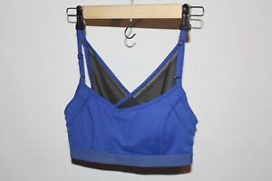 LOLE Sports Bra Blue Size Small Crossback Semi See Through Gym Running Top