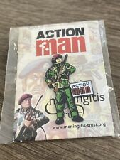 The Meningitis Trust Action Man Charity Pins X 6 on Original Cards