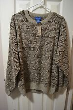 Mens TOWN CRAFT L/S Crew-neck Sweater, L, Multi-color, Acrylic, NWT