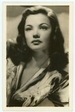 ACTRESS GENE TIERNEY PHOTO POSTCARD