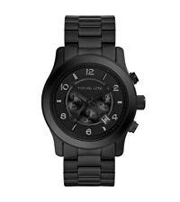 Michael Kors Mens Runway Black Chronograph Watch MK8157