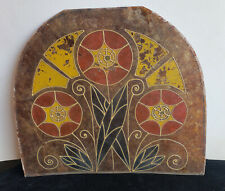 Exceptional Art Deco Isenglass/Mica Decorated Lamp Shade