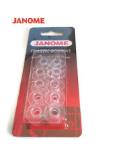 GENUINE JANOME PLASTIC BOBBINS X 10 IN PACKET SUITABLE FOR JANOME SEWING MACHINE