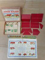 Lott's Lodomo Bricks  Junior Builder Set England  Vintage 1930s