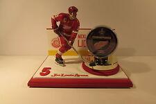 Nicklas Lidstrom McFarlane Figure and 2008 Stanley Cup Puck Custom Display