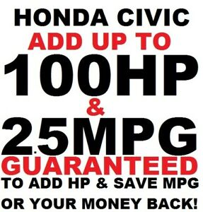 HONDA CIVIC SI LX EX VTEC Best Tuner Performance Chip 1996-2017 SAVE GAS/FUEL