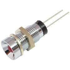 Vossloh LED Signalleuchte WU-I-5-R Innenreflektor chrom mit 5mm LEDs rot 858756