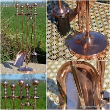 antique huge Copper French, early 19th century Handmade companion set