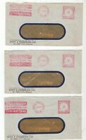Australia ROYAL EXCHANGE Postage Paid advertising covers x 3 1957