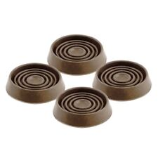 4 x 44mm BROWN RUBBER CASTOR CUPS Sofa Chair Furniture Floor Protectors Uk