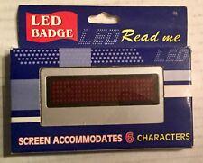 Programmable Digital LED Badge New