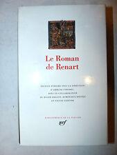 STRUBEL: Le Roman de Renart Romanzo 1998 ex libris 1a ed. La Pleiade in francese
