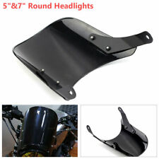 "Motorcycle Windshield Windscreen Kit 5""&7""Round Headlights Frame Holder"