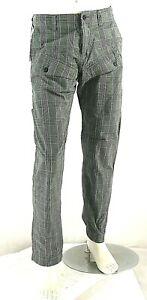 Pantaloni Uomo Jeans ENERGIE Gamba Dritta Multitasche Grigio B775 Tg 33