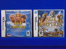 ds AGE OF EMPIRES x2 Games Age Of Kings + Mythologies Lite DSi 3DS REGION FREE