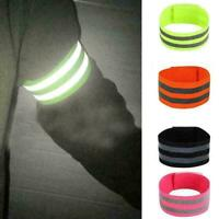 Reflective Film Safe Band High Visibility Wrist Arm Walking Night Leg Band N8S3