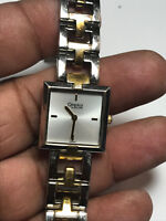 Nice Ladies Dual Tone Caravelle By Bulova A6 Analog Watch