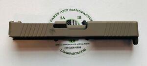 Slide for Glock 17 Gen3 RMR Cut, Front and Rear Angled Serration - FDE