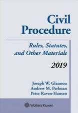 Civil Procedure 2019 : Rules, Statutes, and Other Materials, Paperback by Gla.