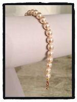 Bracelet Perle De Majorque Plaqué Or 18 Carats Bijoux Femme