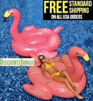 Swimline 90627 Giant Huge Inflatable Swimming Pool Ride-On Flamingo Float PINK