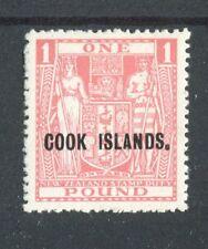 Cook Islands 1936-44 £1 pink (Cowan paper) SG121 MNH