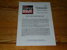 TOM PETTY - MOJO-TOUR EDITION / 2 PROMO-FACTS-BLÄTTER (DIN-A-4) 2012