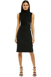 Scanlan Theodore Houndstooth Velvet Pencil Dress Size 12
