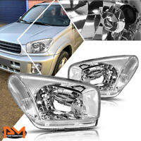 For 01-03 RAV4 XA20 Direct Replacement Headlight/Lamps Chrome Housing Clear Side