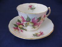 Vintage Royal Vale Bone Chine Tea Cup and Saucer - Made in England