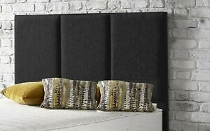 "Beautiful Crushed Velvet Linen Fabric Fashionable York Bed Headboard 26"" Height"