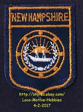 LMH PATCH Badge  NEW HAMPSHIRE  Flag Seal Crest Emblem NH Coat Arms COA  RALEIGH