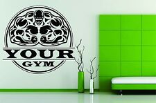 Wall Stickers Vinyl Decal Decor Bodybuilding Gym Flex Muscle Personalized Name